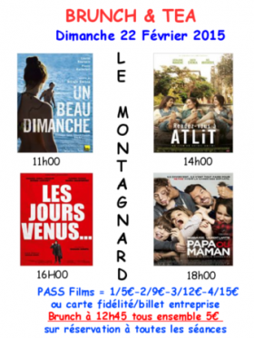 CINE BRUNCH AND TEA - Cinéma LE MONTAGNARD