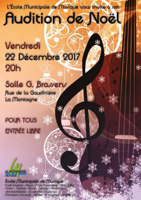 Audition de Noël 2017