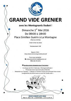 Vide-greniers des Monstagnards Basket