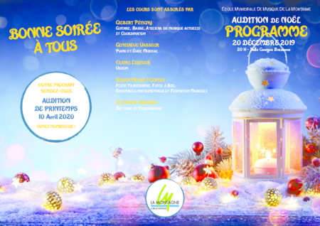 Programme audition noël 2019