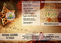 02 - Programme audition noël 2018