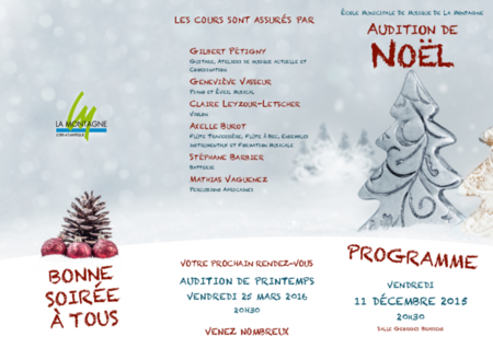 02 - Programme audition noël 2015