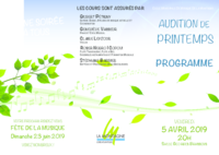 02 - Programme audition avril 2019