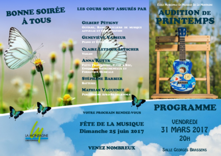 Programme audition mars 2017